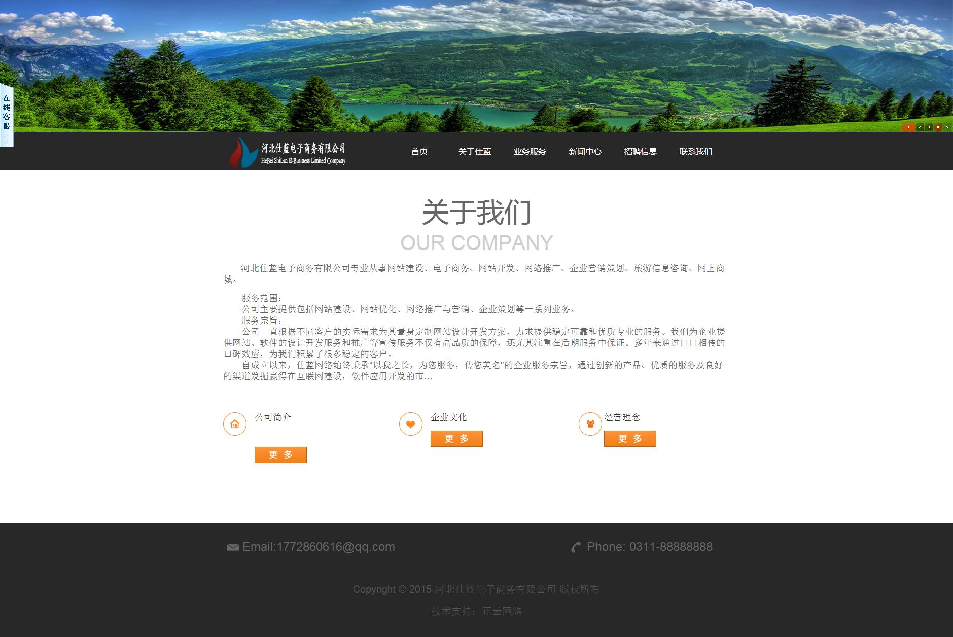 河北仕蓝电子商务有限公司网站建设案例